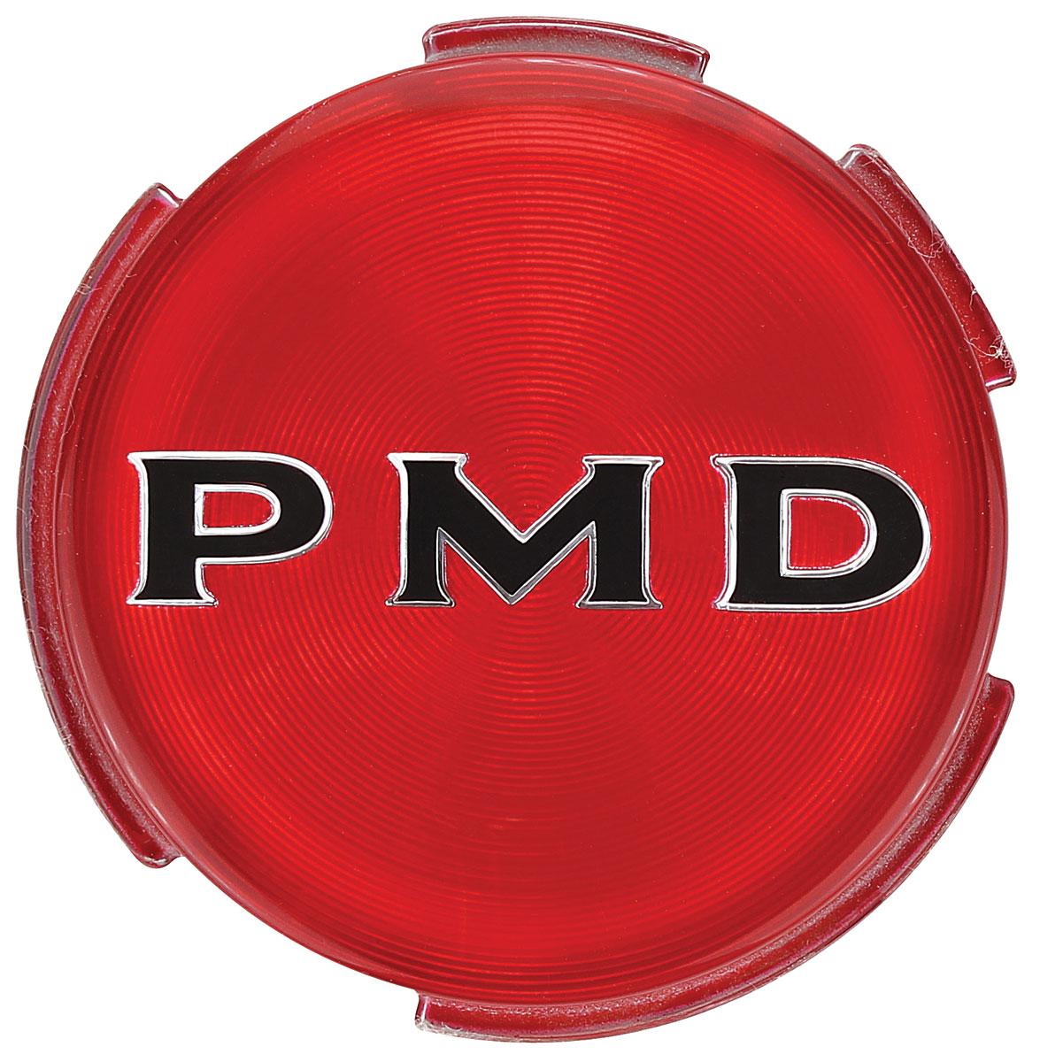 Emblem, Wheel, 1967-70 Pontiac, Red 2-3/4